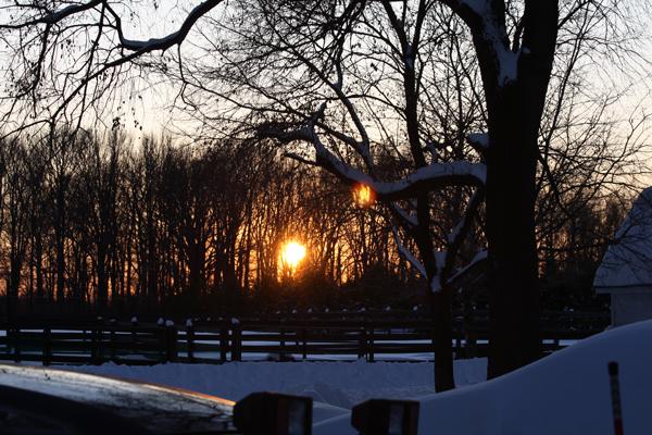 Sunset at Blairwood Farms